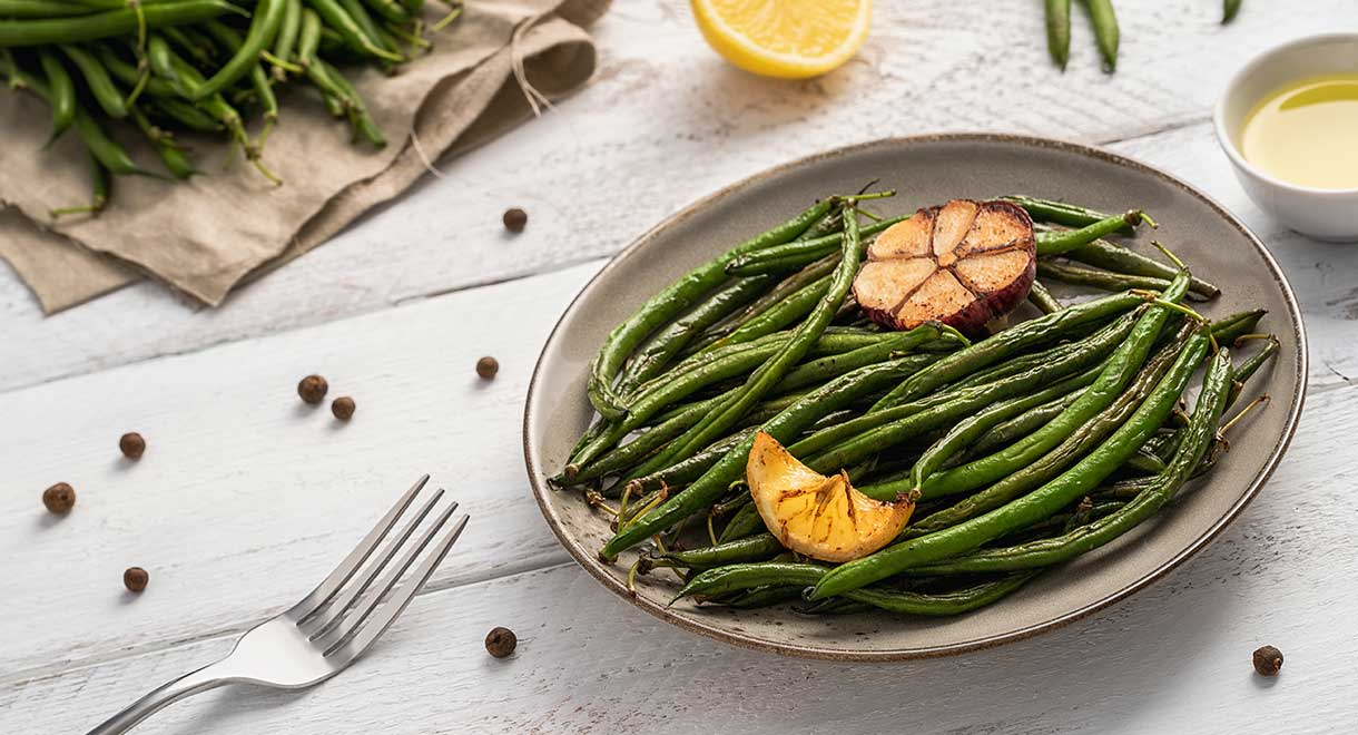 Lemon And Thyme Roasted Green Beans
