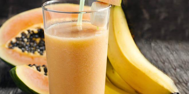 Banana papaya protein smoothie