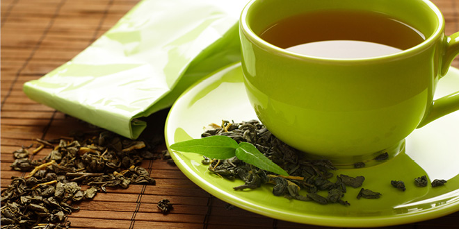 Drinking green tea helps to reduce anxiety