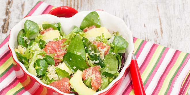 Simple chicken and quinoa salad