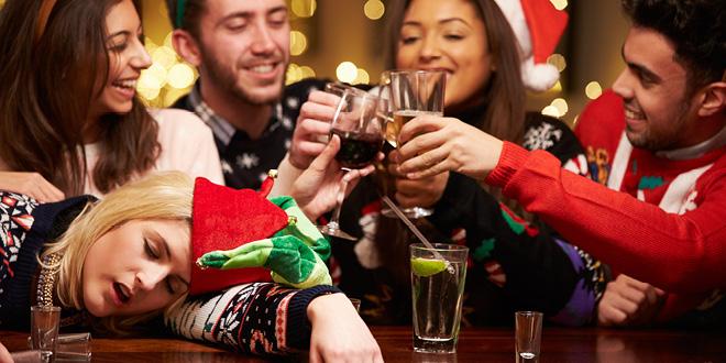 Bilderesultat for christmas party drunk