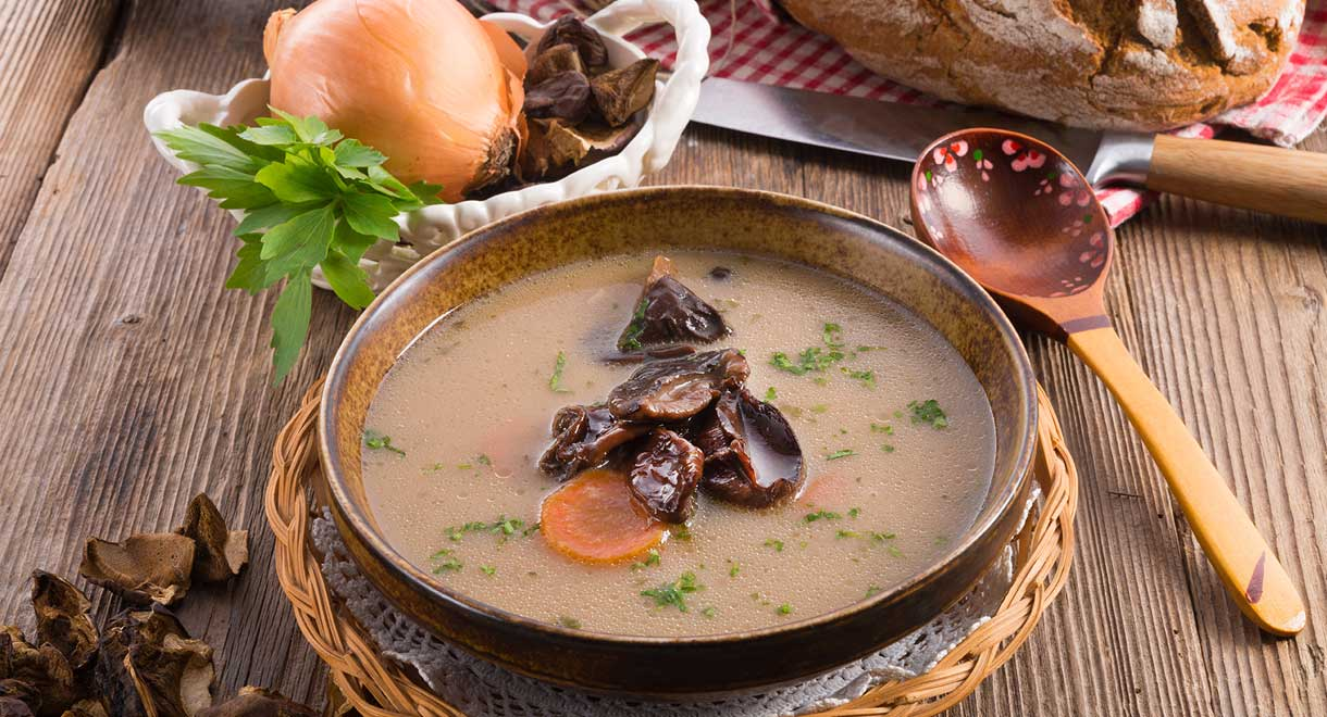 Vegan Mushroom And Leek Soup