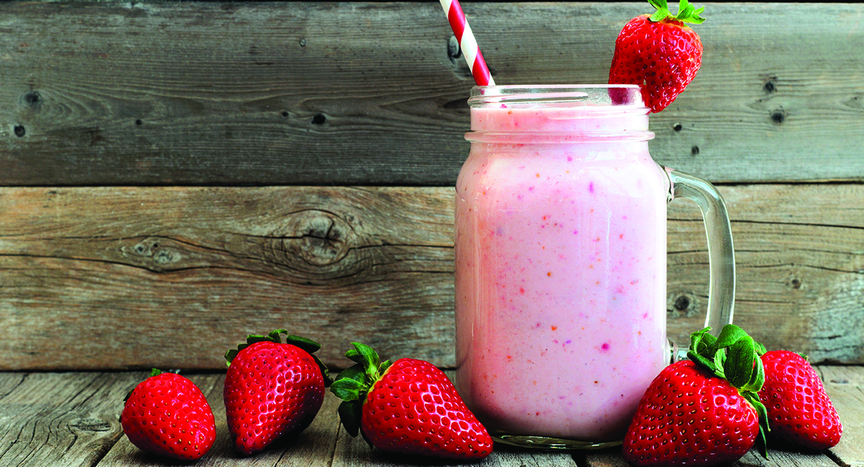 Thick And Creamy Strawberry Smoothie