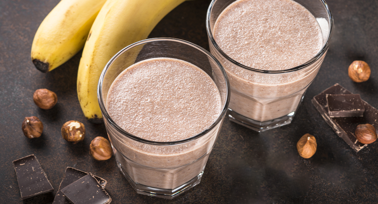 Chocolate And Hazelnut Protein Smoothie